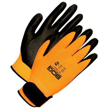 hi viz nylon gloves