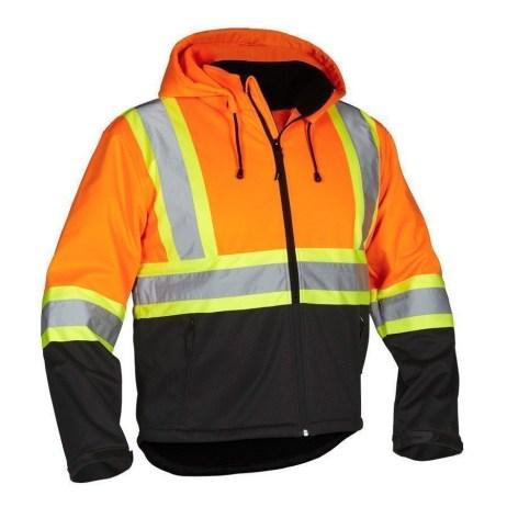 orange rain jacket
