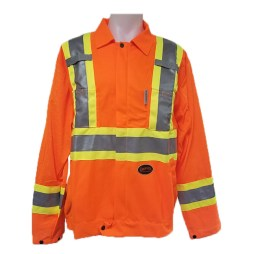 orange traffic jacket