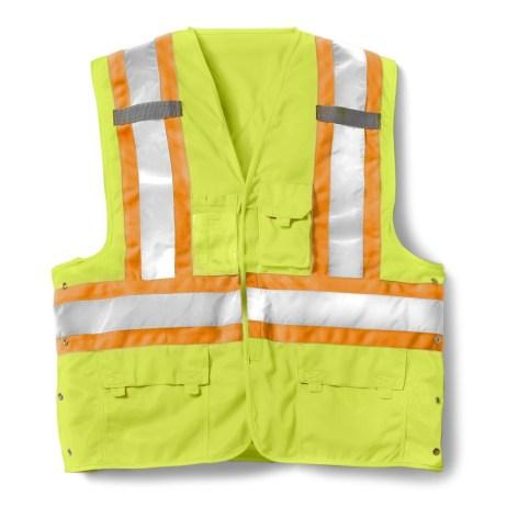 yellow velcro vest