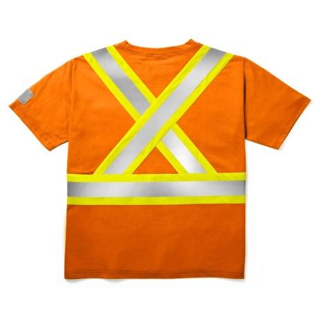 orange cotton tshirt