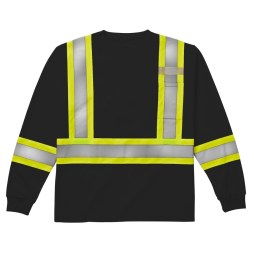 black long sleeve safety shrirt