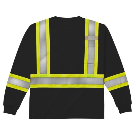 black long sleeve safety shrirt
