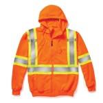 orange hi-viz zip hoodie