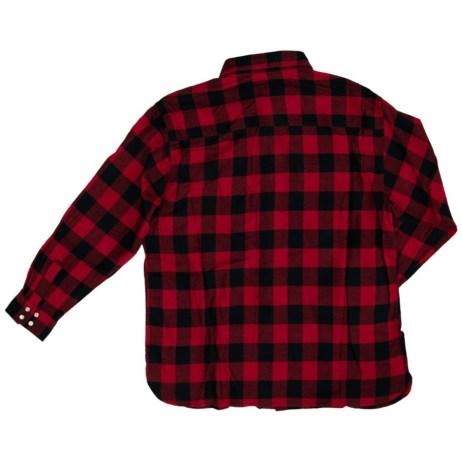 red plaid work shirt back