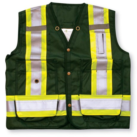 forest green surveyor vest