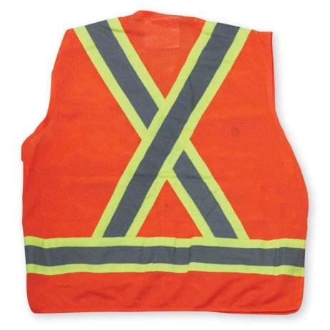 orange mesh vest back