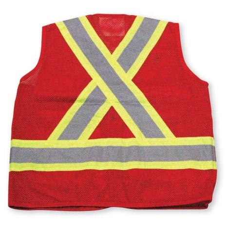 red mesh vest back