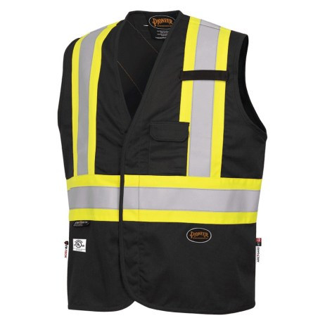 black fr safety vest