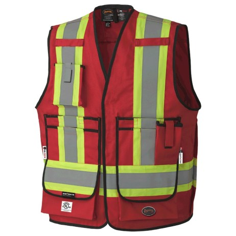 red fr surveyor vest
