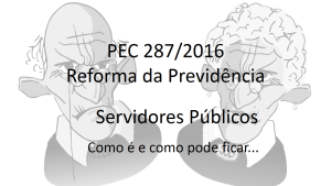 Reforma da previdência servidor público