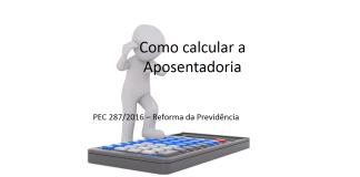 reforma da previdência como calcular aposentadoria