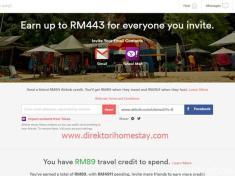 Penginapan Percuma Dengan Kredit Perjalanan  Airbnb Direktori Homestay