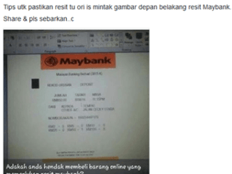 Cara Buat Resit Palsu CDM Maybank