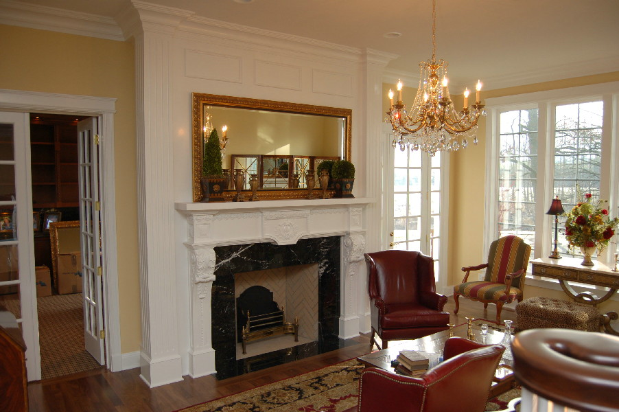 Compo and Basswood Mantel, full room