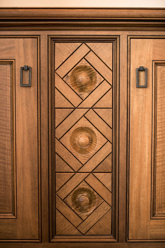Basket Weave drawer fronts in anigre