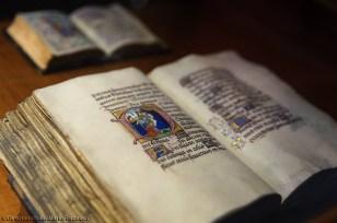Manoscritto miniato esposto nel Monastero Strahov