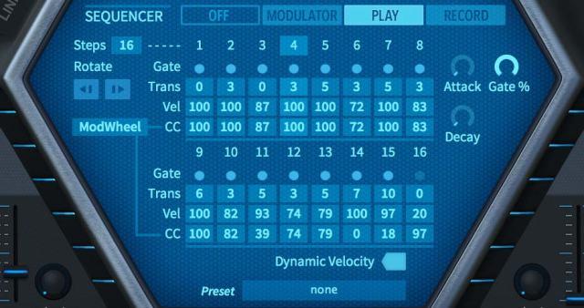 Sequencerセクション