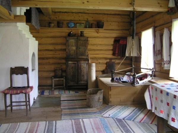 Деревенская Изба Внутри Картинки