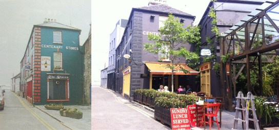 Pic of premises in 1991 and today