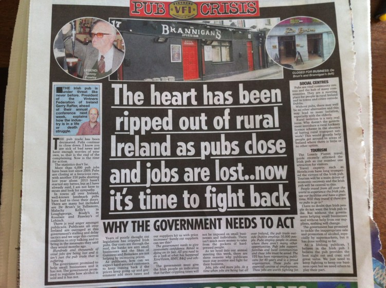 Page from Sunday World Newspaper