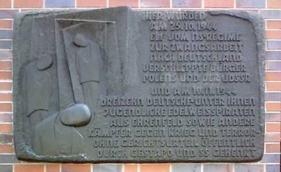 Ehrenfeld_Gedenktafel_Edelweißpiraten