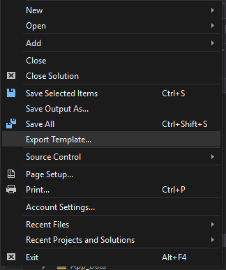 Visual Studio Item Templates