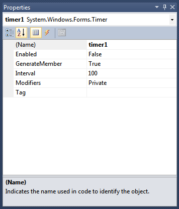 Windows Service Timer Properties