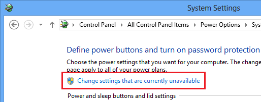 Windows 8 System Settings