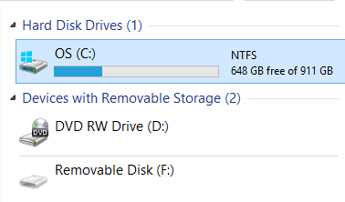 Windows 8 Computer Drive C
