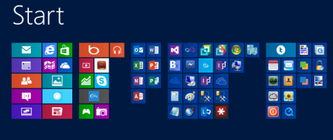 Windows 8 Start Screen Zoomed Out