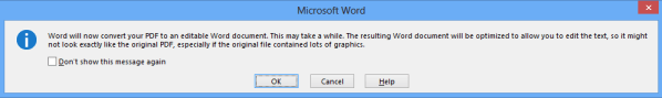 Word Open PDF as Word Doc
