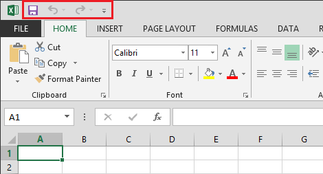 Office Excel 2013 File and Home Tab