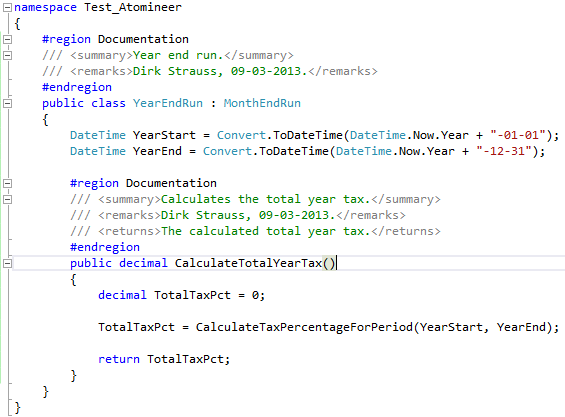 Atomineer Pro Documentation for Visual Studio 2012