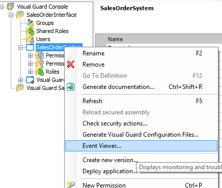 Visual Guard Event Viewer