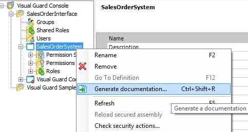 Generate Documentation Visual Guard