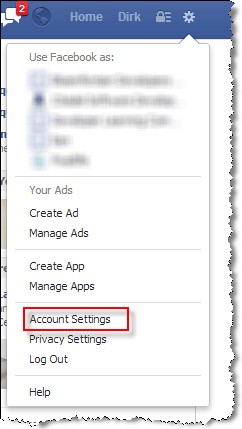 facebook trusted contacts Account Settings
