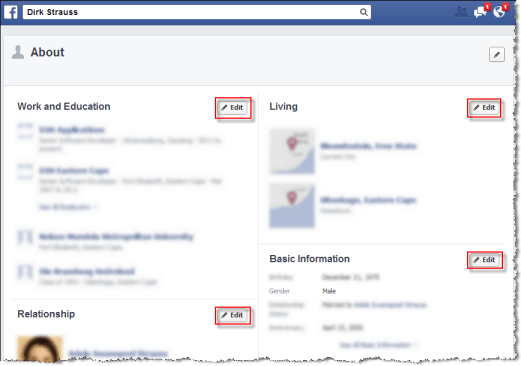 About Privacy settings