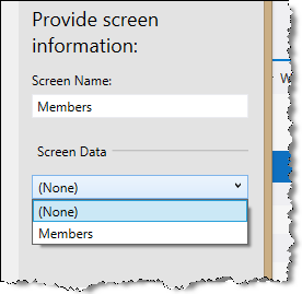 visual studio lightswitch add screen data