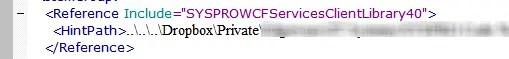 Visual Studio 2013 Reference Build Error