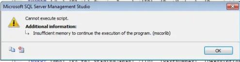 Execute Script Error