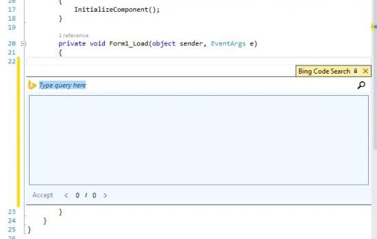 Bing Code Search
