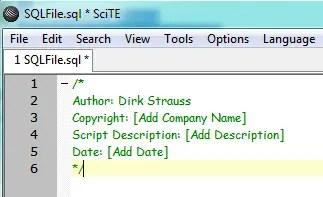 Automate Standard Comment Blocks