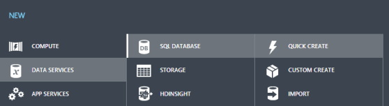 Create Azure Databases