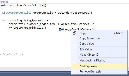 Debugging Lambda Expressions