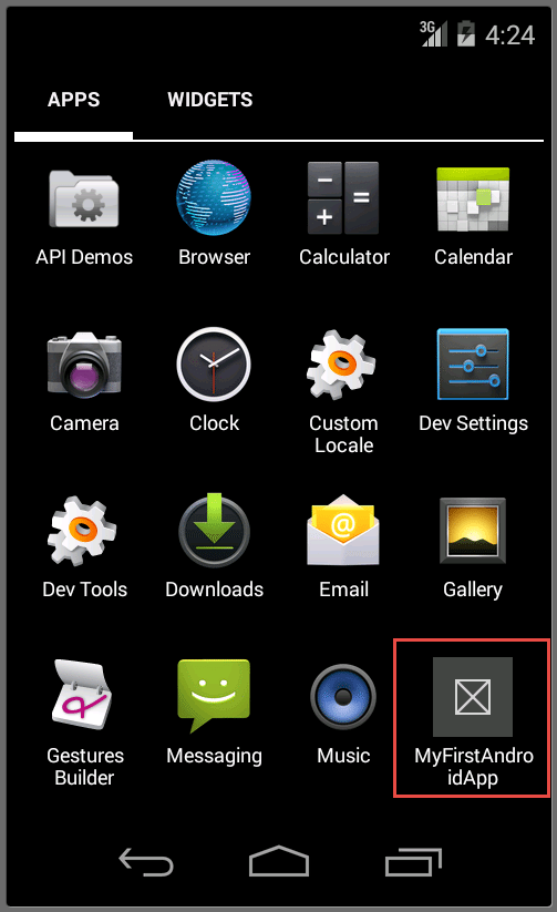 Visual Studio Enterprise 2015 Android App On Home Screen