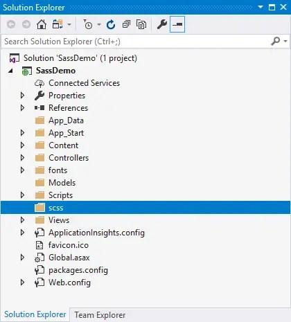 Adding the SCSS Folder