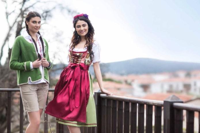 Oktoberfest Dirndl und Damen Lederhosen - Bergweiss Trachten