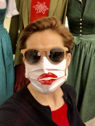 Corona Maske Lippenstift Mund