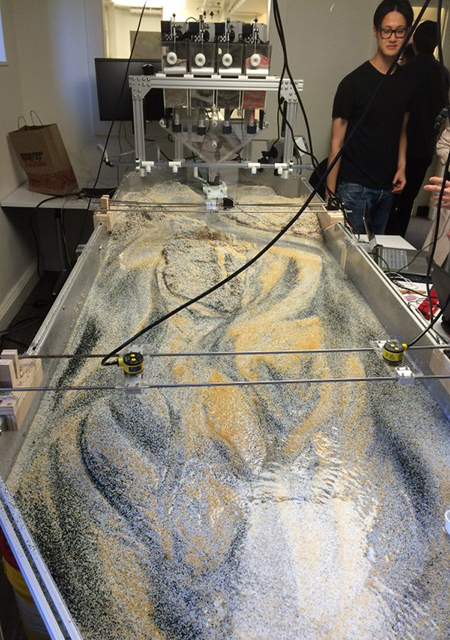 Bradley Cantrell studio testing responsive hydrologic systems at the GSD / David J Klein